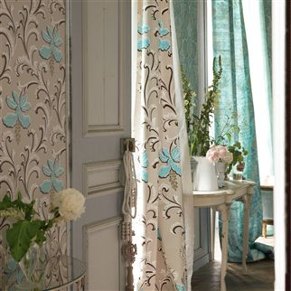 giacosa - teal fabric | Desigenrs Guild