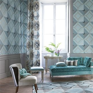 padgett - noir wallpaper | Designers Guild