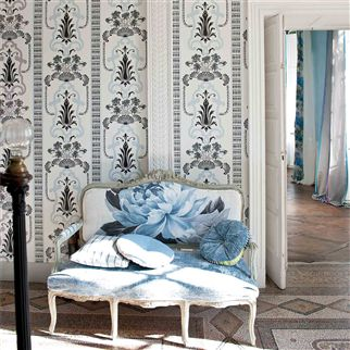 bergius - gold wallpaper | Designers Guild