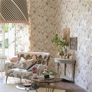whitewell - gold wallpaper | Designers Guild