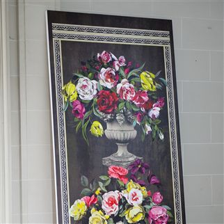ornamental garden panel print - slate wallpaper | Designers Guild