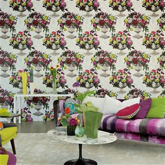 phipps - raspberry fabric | Designers Guild