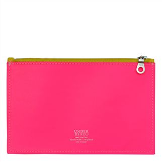 UNDERCOVER Fluoro Pink Small Leather Wallet