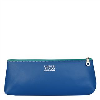 Cobalt Leather Pencil Case