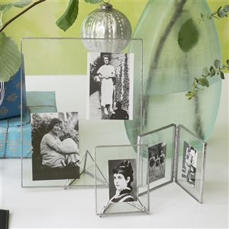 Pewter & Glass Large Photo Frame | Designers Guild