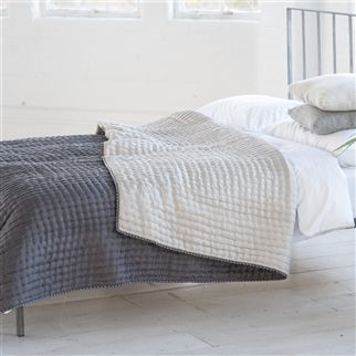 Chenevard Silver & Slate Quilts & Pillowcases | Designers Guild