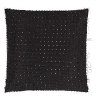 Chenevard Black & White Quilted Pillowcases