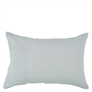 Biella Dusk & Duck Egg Standard Pillowcase - Reverse