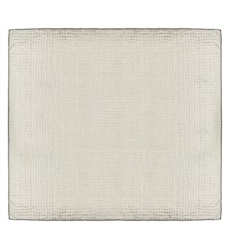 Chenevard Silver & Slate Large Quilt - Reverse
