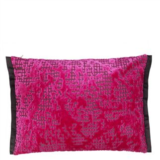 Boratti Fuchsia Throw Pillow