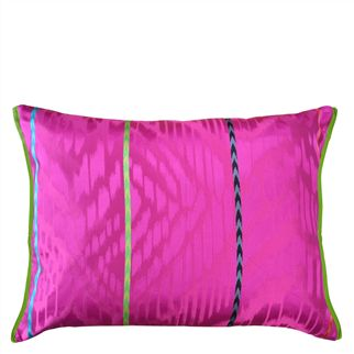 Junani Fuchsia Throw Pillow