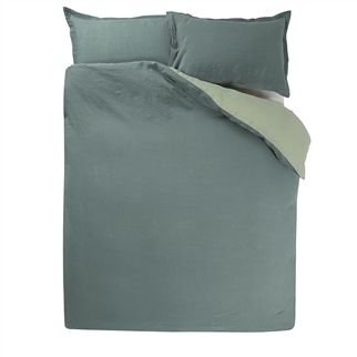 Biella Jade & Celadon Single Duvet Cover