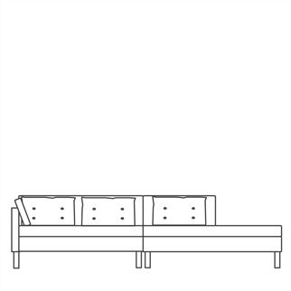 Domino Long Daybed Left Arm