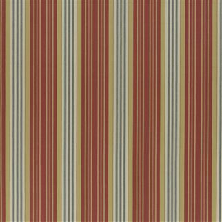 claremont ticking - vintage red/indigo