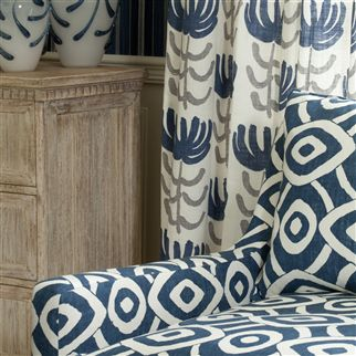 latea - indigo fabric | William Yeoward