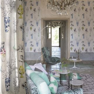 celeste - porcelain wallpaper | Designers Guild