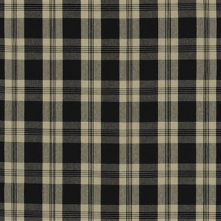 mill pond check - black/linen