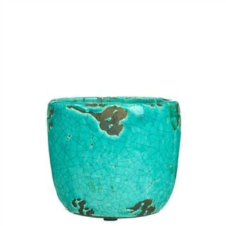 Small Turquoise Planter Pot