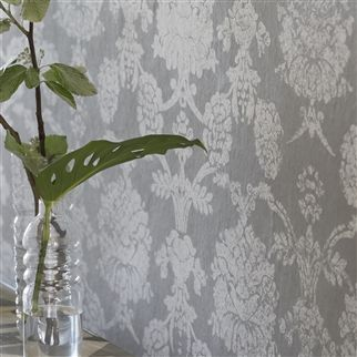 sukumala lino - graphite wallpaper | Designers Guild