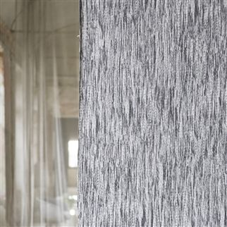 dhari - graphite wallpaper | Designers Guild