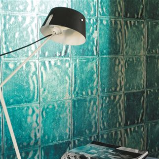 aquarelle - turquoise wallpaper | Designers Guild