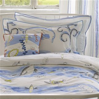 Whale Of A Time Cobalt Kids Bed Linen