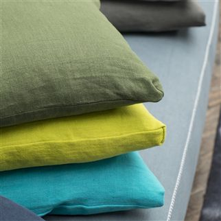 brera lino - moss fabric | Designers Guild Essentials