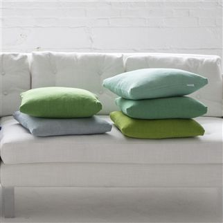 brera lino - malachite fabric | Designers Guild Essentials