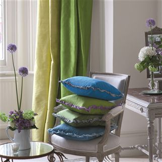 chinon - basil fabric | Designers Guild Essentials