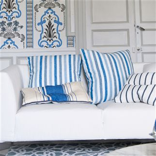 brera rigato - cobalt fabric | Designers Guild Essentials