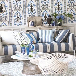 brera largo - indigo fabric | Designers Guild Essentials