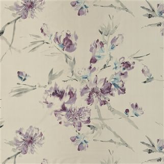 oriental flower - thistle fabric