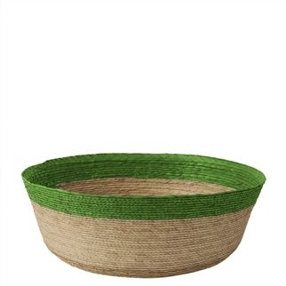 BRIGHT GREEN MEDIUM BASKET