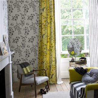 jacaranda - gold wallpaper | Designers Guild