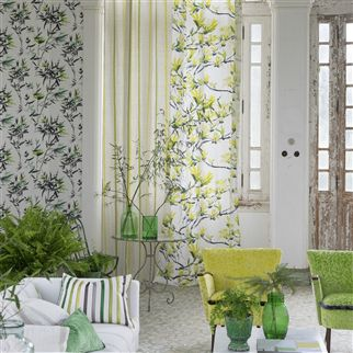 bamboo - lime wallpaper | Designers Guild