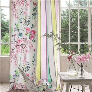 Curtains Ideas chinoiserie curtains : chinoiserie flower - peony fabric | Designers Guild