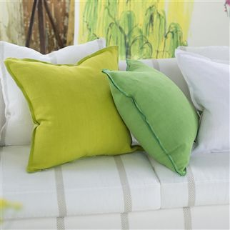 brera lino - lime fabric | Designers Guild Essentials