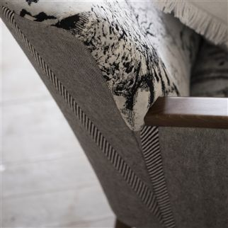 brera spigato - ebony fabric | Designers Guild Essentials
