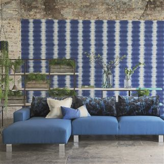 savine - graphite wallpaper | Designers Guild