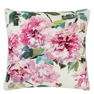Shanghai Garden Peony Throw Pillow