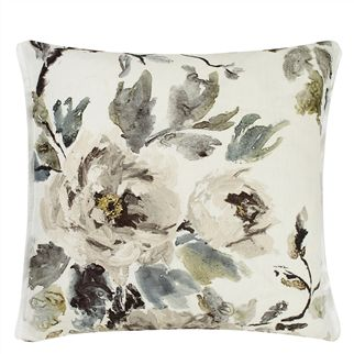 Shanghai Garden Ecru Throw Pillow