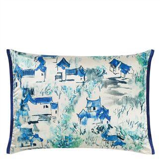 Jade Temple Cornflower Cushion