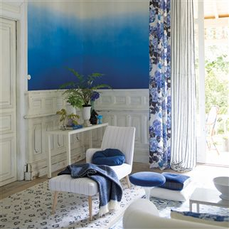 brera fino - marine fabric | Designers Guild Essentials