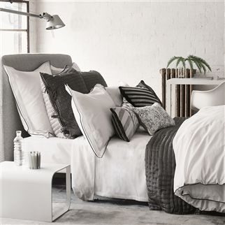 Astor Charcoal And Dove Bedding | Designers Guild