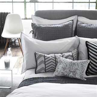 Astor Charcoal And Dove Bedding