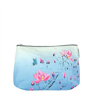 Madame Butterfly Cerulean Toiletry Bag