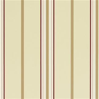 marden stripe - cream / tan / red