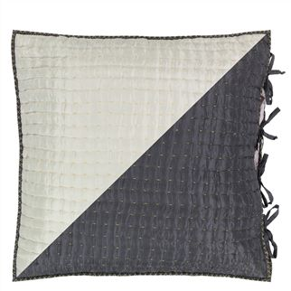 Chenevard Silver & Slate Square Pillowcase