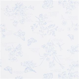 nature study toile - blueberry