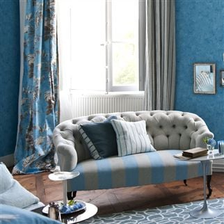 brera fino - cobalt fabric | Designers Guild Essentials
